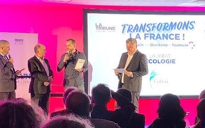 Récompense pour les lauréats de « Transformons la France » à Toulouse.