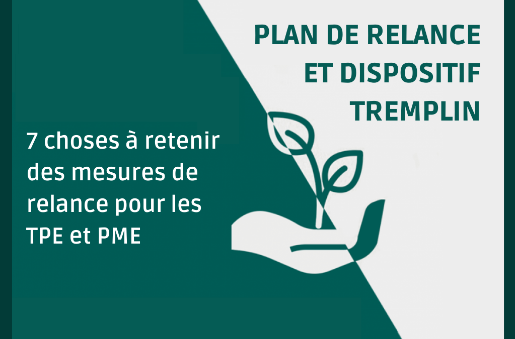 Plan de relance : 7 choses à retenir des mesures du gouvernement pour les TPE et PME